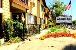 Woodside Exterior, sidewalks