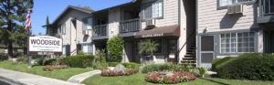 Leasing office, sidewalk and stairs, Active Senior Apartment Living, 909.391.4141